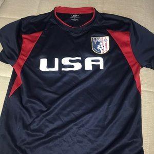 Boys soccer shirt size 14/16 used